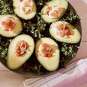Marinated Shrimp in Avocado Halves Recipe