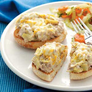 Tuna Artichoke Melts