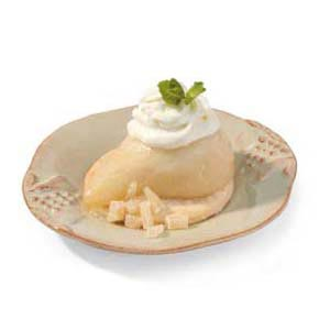 Poached Pears with Almond Cream Recipe