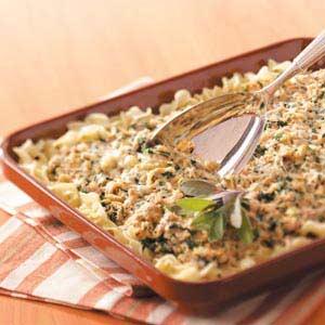 Makeover Spinach Tuna Casserole Recipe