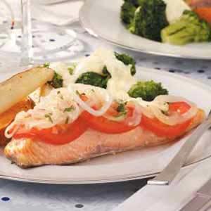 Tomato and Onion Salmon Recipe