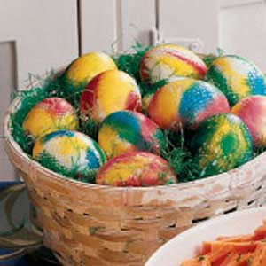 Tie-Dyed Easter Eggs Recipe