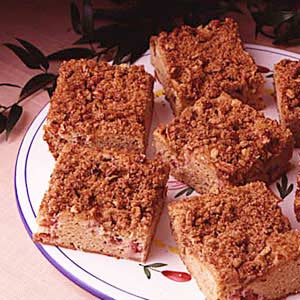 Rhubarb Streusel Coffee Cake Recipe
