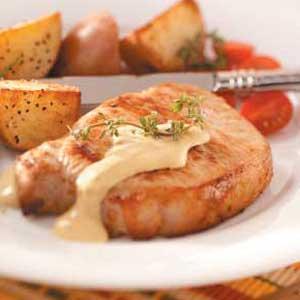 Pork Chops with Dijon Sauce Recipe