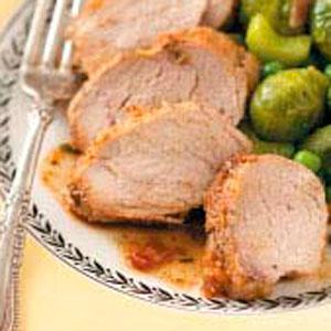 Pork Tenderloin with Fig-Orange Glaze Recipe