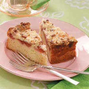 Rhubarb-Ribbon Brunch Cake Recipe