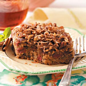 Coconut-Rhubarb Spice Cake