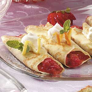 Strawberry Rhubarb  Crepes Recipe