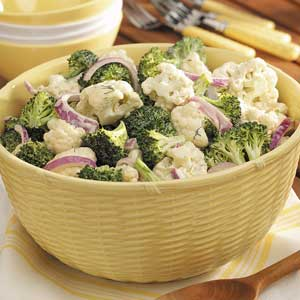 Broccoli-Cauliflower Floret Salad Recipe