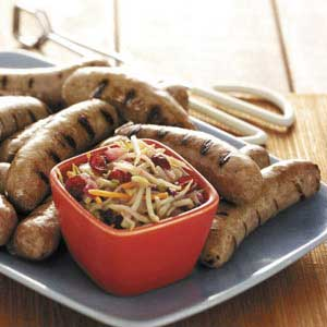 Turkey Brats with Slaw Recipe