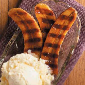 Honey-Rum Grilled Bananas Recipe