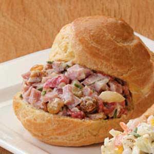 Ham Salad Puffs Recipe