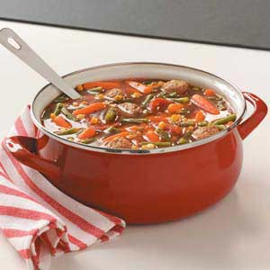 Turkey Meatballs and Vegetable Soup Recipe
