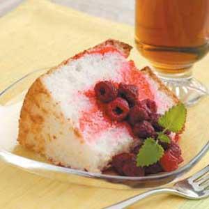 Raspberry Angel Cake