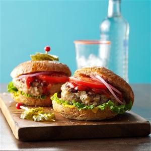 Grilled Ground Turkey Burgers Recipe