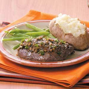 Saucy Tenderloin Skillet Steaks Recipe