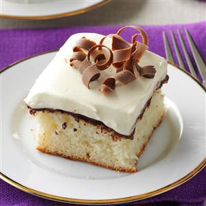 Fudge-Filled Vanilla Cake Recipe