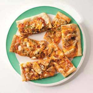 Southwest Chicken Fajita Pizza Recipe