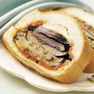 Eggplant-Portobello Sandwich Loaf Recipe