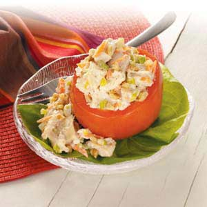 Chicken-Stuffed Tomatoes Recipe