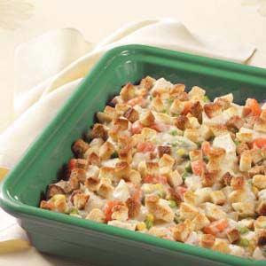 Hearty Veggie Chicken Casserole