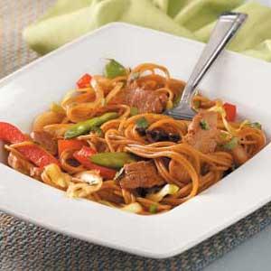 Chinese Pork 'n' Noodles Recipe