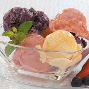 Colorful Frozen Yogurt