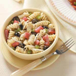 Spiral Pasta Salad with Marjoram Vinaigrette Recipe