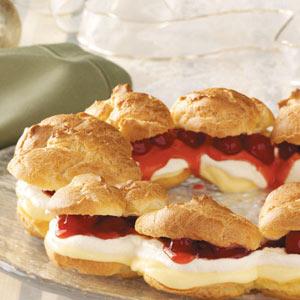 Cherry Cream Puff Ring Recipe