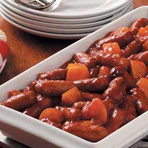 Sweet-and-Sour Sausages Recipe