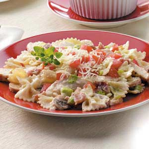 Creamy Bow Ties and Chicken Recipe