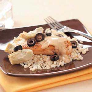 Makeover Creamy Chicken 'n' Artichokes Recipe