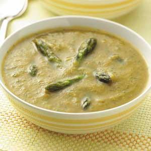 Golden Asparagus Soup Recipe
