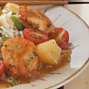 Sweet-and-Sour Scallops Recipe