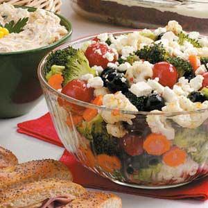 Olive Floret Salad Recipe
