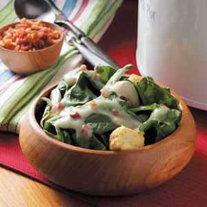 Warm Dressing for Spinach Recipe