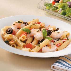 Shrimp and Olive Rigatoni Recipe