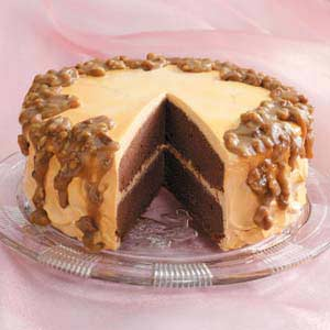 Chocolate Caramel Cake with Butterscotch Frosting Recipe