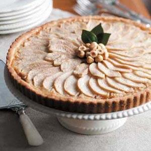 Hazelnut Pear Tart Recipe