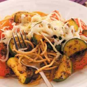 Pasta with Flavorful Veggies Recipe