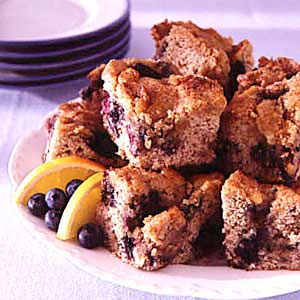 New England Blueberry Coffee Cake Recipe