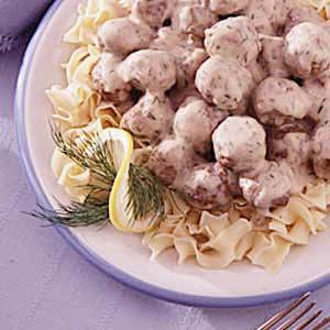 Meatballs in Dill Cream Sauce Recipe