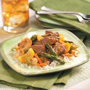 Apricot Beef Stir-Fry Recipe