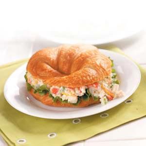 Crab Salad Croissants Recipe