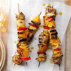 Curried Pork & Orange Kabobs Recipe