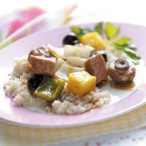 Baked Pineapple-Pork Kabobs Recipe