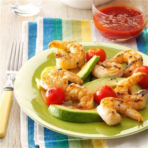 Grilled Shrimp & Tomato Salad Recipe