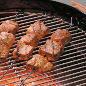 Spicy Salmon Kabobs Recipe