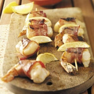 Bacon-Wrapped Seafood Skewers Recipe
