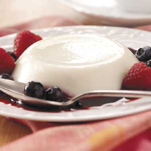 Panna Cotta with Mixed Berries Recipe